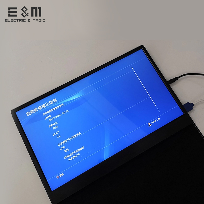 US $344 99  4K HDR 3840*2160 IPS Monitor 60Hz 8bit Portable Game Mac Mini  Switch Player Xb PS4 NS Type C Mp4 Player HDMI DP LCD Screen-in LED  Displays