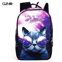 Ou Mo brand Print Pet travel outdoor High capacity feminina backpack Youth Boys/Girls child Schoolbag Women Bag man