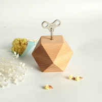 New Creative Wooden Gift Eight Sound Box Wood Diamond Music Box Nordic Wind Crafts Home Decoration Gift Music Box
