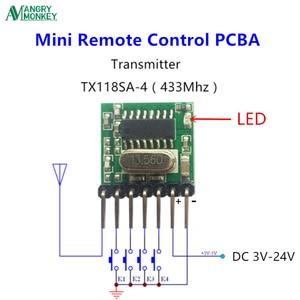 Image 4 - 5 חתיכות 433 Mhz Superheterodyne RF אלחוטי משדר מודול 1527 קידוד EV1527 קוד רחב מתח 3V 24V עבור שלט רחוק