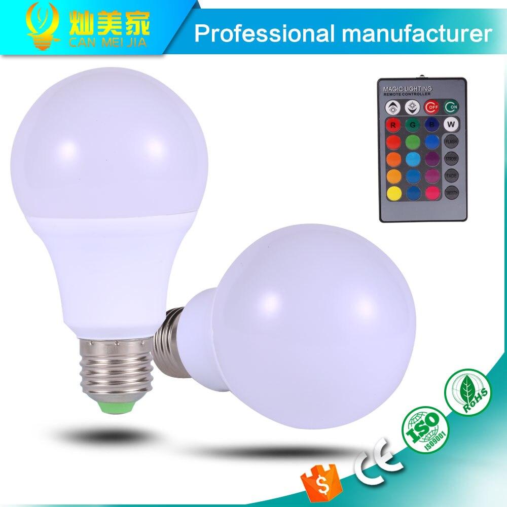 High Power Led Lamp E27 RGB Led Bulb Home <font><b>Lighting</b></font> Holiday Dimmable Lamp COB 3W 5W 7W Remote Control <font><b>16</b></font> Color Change 110V 220V