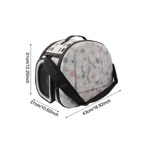 Image 2 - EVA Pet Carrier Dogs Cat Folding Cage Collapsible Crate Handbag Carrying Bags Pets Supplies Transport Chien Puppy Accessories