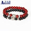 Ailatu Wholesale Promotion 12 pieces/lot Wood Bracelet, Prayer Mala  Beads Natural Wood  Buddha Head Beads Fashion Jewelry