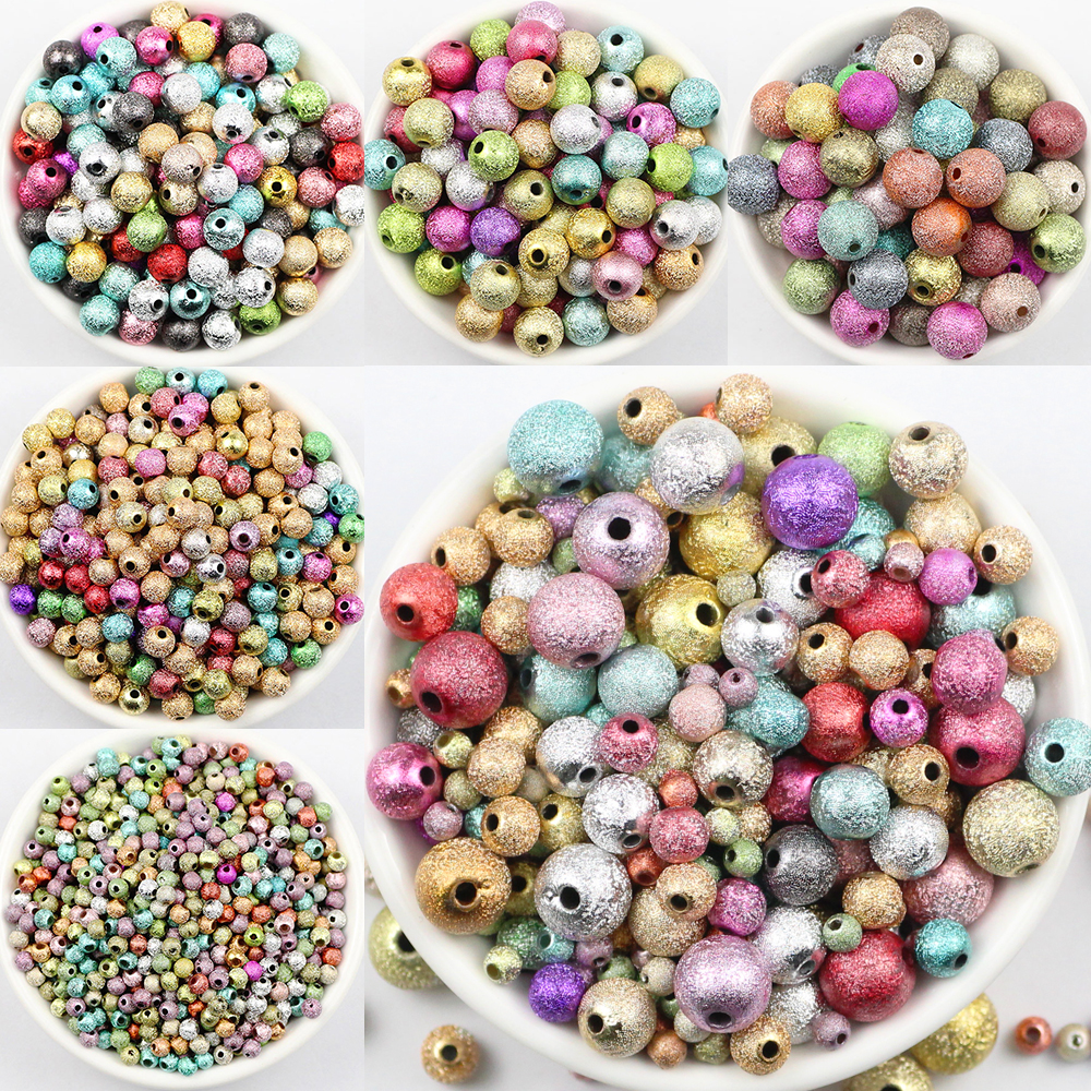 Beads Jhnby Top Quality 250pcs Mixed Candy Light Color Acrylic Cream Beads Neon Smooth 6mm Round Loose Beads Fit Jewelry Handmade Diy Clients First Beads & Jewelry Making