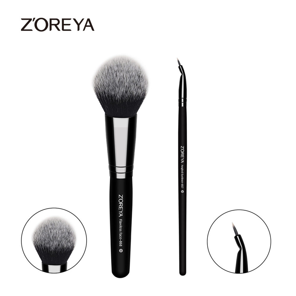 ZOREYA Hot Sale Multi-funtion Flawless Face Makeup Brush Powder Foundation Blush Eyeliner Brush Make Up Brushes Cosmetic Tools 2017 hot rose gold powder blush brush professional makeup brush 200 flawless blush powder brush kabuki foundation make up tool