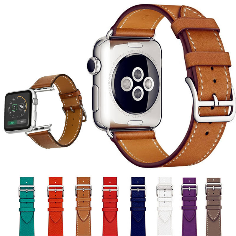 ASHEI for Apple Watch Band 42mm 38mm Leather Strap Smart Watch Band Single Tour Bracelet Replacement Wristband for iWatch 3 2 1 istrap black brown red france genuine calf leather single tour bracelet watch strap for iwatch apple watch band 38mm 42mm