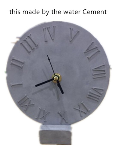 Cement Craft Clock Mould Concrete Silicone DIY Making Mold Ceramic Clay Plaster Hand Made mold
