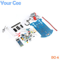 D2 6 Bluetooth Remote Control Smart Car DIY Kit Gravity Sensor Obstacle Avoidance Intelligent Tracking Automobile