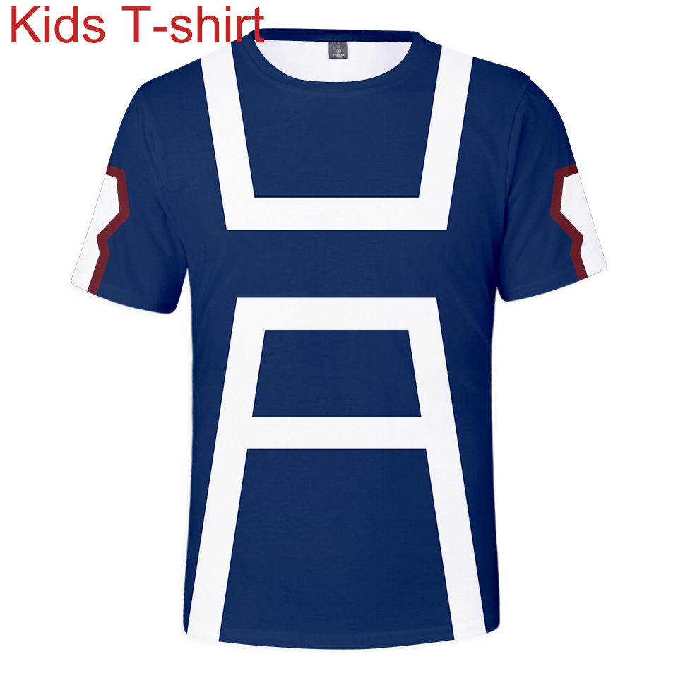 Kids Anime My Hero Academia Cartoon Cosplay T-shirts Hip-hop Casual Boys Girls T shirt All Might Superhero Costumes Tops