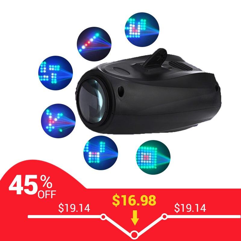 Aimkeeg 64LED 10W Sound Lights DJ Disco Light RGBW Stage Lights Effect mode Disco Projector Bar DJ Lamp