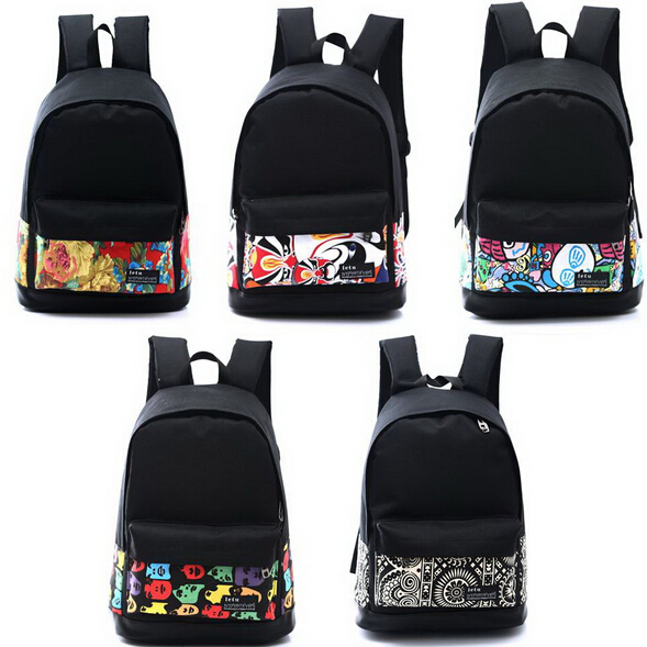 e1a76eb948 Chuwanglin Korean Printing Women s Canvas Backpack Printed School bag for Girl  Travel Mochila school backpack Rucksack QG7243-in Backpacks from Luggage ...