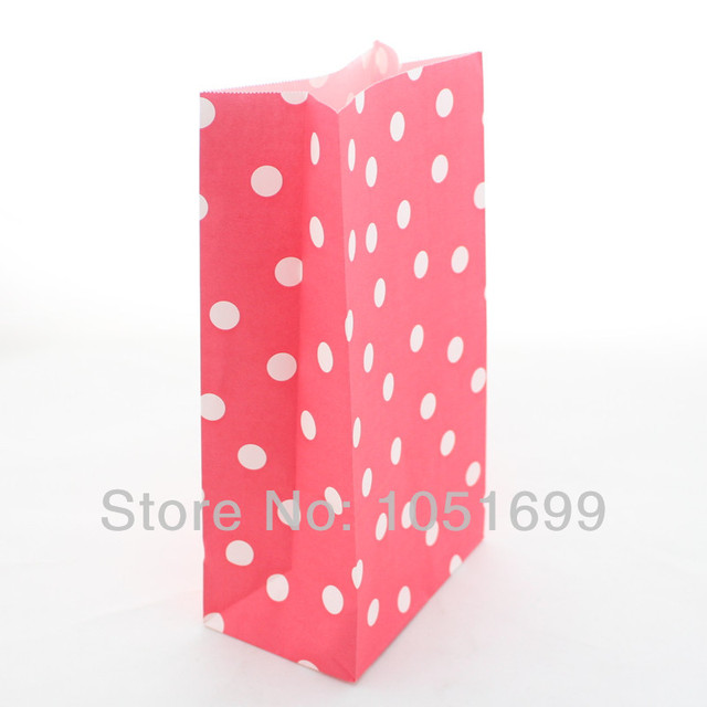 3000pcs Lot Colorful Red Polka Dot Paper Bags Without Handle For Gift Packaging Of Baby