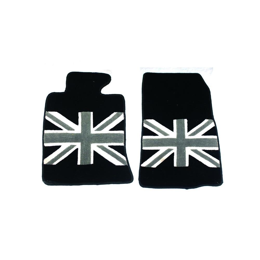 Mini cooper rubber floor mats uk - Brand New Floor Mat High Quality Plush Black Union Jack Style Uv Protected Mini Cooper Car