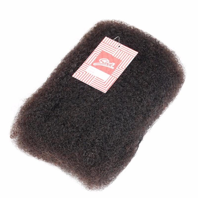 Sleek 3pcslot Tight Afro Kinky Bulk Hair 100% Human Hair For Dreadlocks, Indian Hair Kinky Twist hair in Bulk Natural Color  (4)