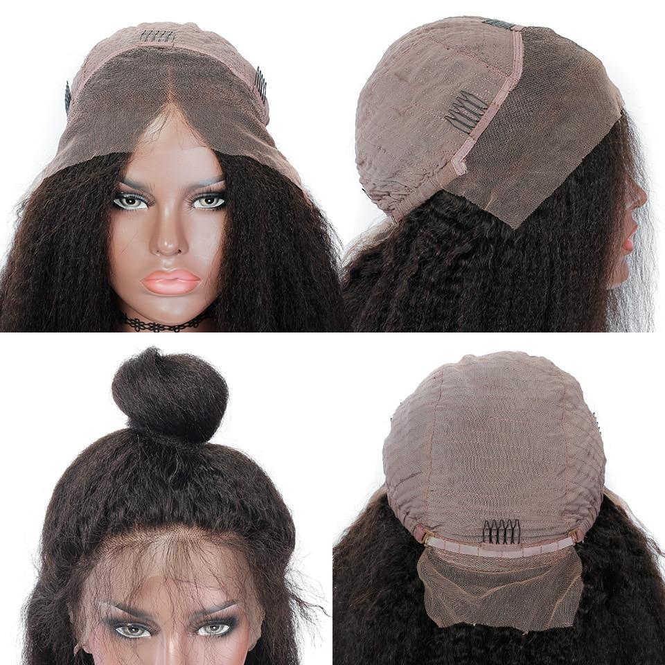 YVONNE Kinky Straight Lace Front Mänskliga Hårperor För Svarta - Mänskligt hår (svart) - Foto 6