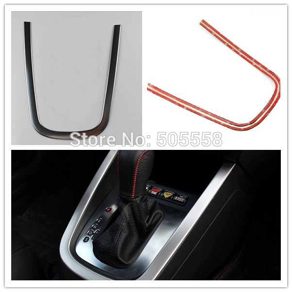 VW STAINLESS STEEL CAR SHIFT KNOB PANEL EDGE TRIM COVER STICKER CAR STYLING FOR VW JETTA MK6