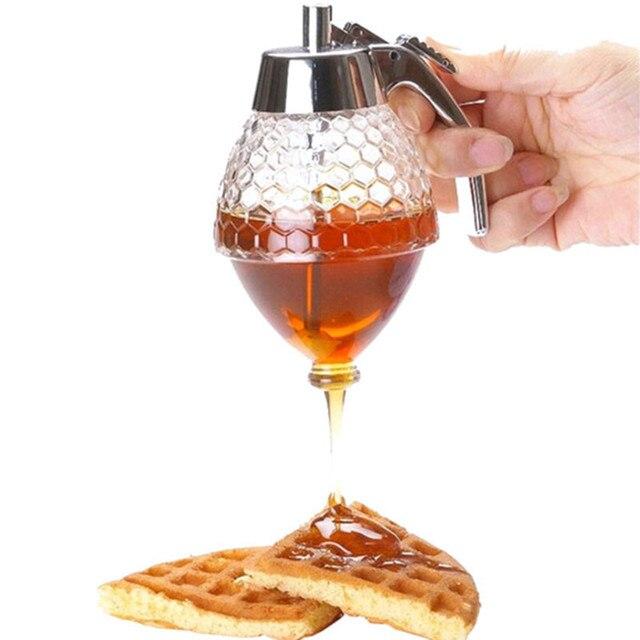 Sturdy Acrylic Honey Dispenser Syrup Dispenser Olive Oil Bottle Oil Pourer Sauce Vinegar Storage Jar Kitchen Cooking Tools