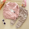 Kids clothes 2016 winter children's clothing suit Carton Elephant Cotton Set Children Clothing Sets Child T-Shirt+Pants Suit