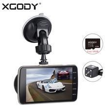 XGODY H30 4.0 pulgadas HD 1080 P Coche DVR de Doble Lente de Visión Nocturna Cam Dash Vehículo Grabador de Vídeo con la Cámara Trasera LIBRE de 16 GB TF Tarjeta de