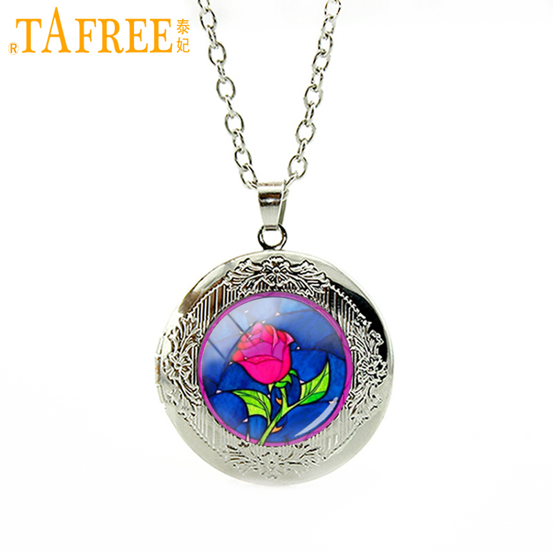 Tafree wholesale pink flower beauty beast rose necklace for Bulk jewelry chain canada