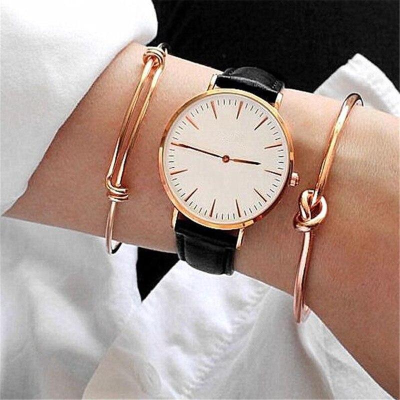 GIVVLLRY Elegant Knot Spring Metal Bracelets for Women Minimalist Retro Stylish Creative Gold Color Cuff Bangles Bracelets Set