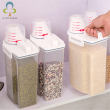 Grain-Storage-Tank Kitchen Sealed-Can Moisture-Proof with Measuring-Cup LXX 1pcs