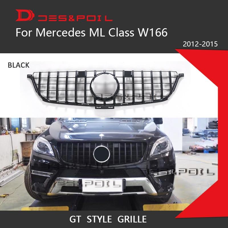 ML classe GT R Grill W164 W166 pour Mercedes Benz SUV Auto calandre 2009-2011 2012-2015 ML320 ML350 ML400 ML500 ML550