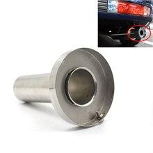 CNSPEED Universal 85mm 3 5 98mm 4 110mm 4 5 Car Stainless Chrome Exhaust Muffler Silencer