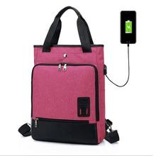 Acoki 15 inch Laptop Backpack USB Charging Anti Theft Backpack women Travel Backpack Waterproof School Bag Male Mochila Purple