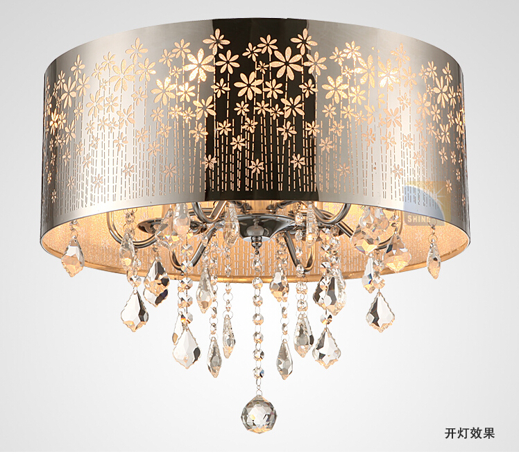 buy modern led k9 lustre crystal chandelier drum crystal ceiling lamp fixture. Black Bedroom Furniture Sets. Home Design Ideas