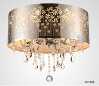 Modern LED K9 Lustre Crystal Chandelier Drum Crystal Ceiling Lamp Fixture Lighting Dining Room Luminre E14 Lamps And Chandeliers