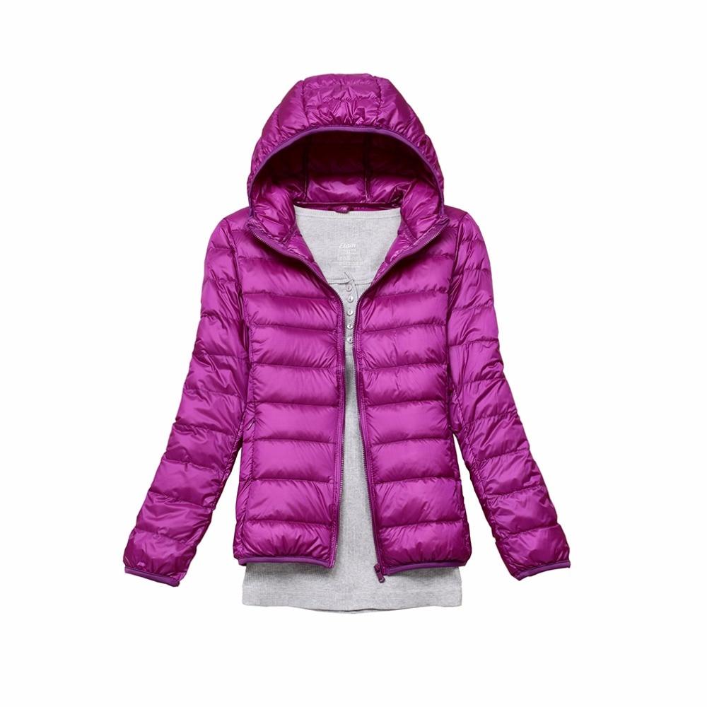 Téli 90% Fehér kacsamell kabát Női őszi kapucnis kabátok Női Parka Ultra könnyű meleg kabát Női Parka Down 11 szín