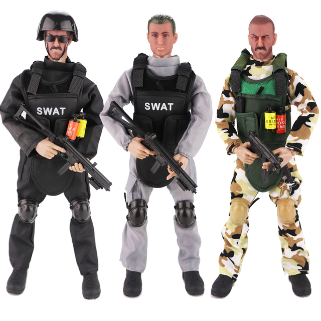 "Jimusuhutu 1/6 Special Forces Soldier Action Figures 12"" War Movies Super Hero Figure 30cm Soldier Doll ABS Model Toy Boy Gift"