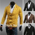 2015 new arrival Unique asymmetric Heaps Collar mens cardigan sweater men casual knitting cardigan for men,freeshipping ,M-XXL,