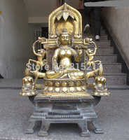 Bi0011789 31 Enorme Tibe tReligion Fane Bronce Gild Elefante Caballo Tara Blanca estatua de Buda