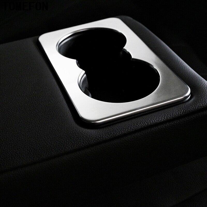 Для JAGUAR F-Темп F темп x761 2016 2017 ABS Хром Матовый заднего сиденья стакана воды Стекло автомобильный держатель подкладке Средства для укладки вол...