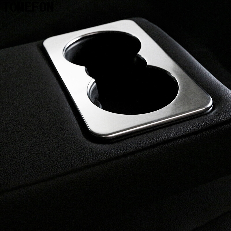 For Jaguar F-Pace f pace X761 2016 2017 ABS Chrome Matte Rear Seat Water Cup Glass Holder Car Interior Styling Accessories Cover