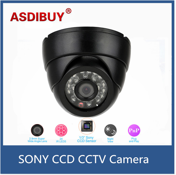 960H 700TVL CCTV Camera 24pcs IR LEDs Night Vision 1/3'' SONY CCD 2.8mm lens Home Surveillance Security Camera