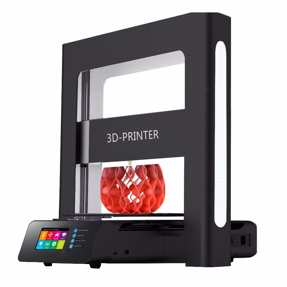 New arrival ! High Quality Touch LCD Display 3D printer One Step Assembly Full Metal Auto Leveling Filament 3D Digital Machine new arrival qidi technology high quality power for 3d printer