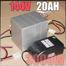 144V 20Ah LiFePO4 Battery Pack 3000W Electric Bicycle Battery BMS Charger 144v lithium scooter electric bike