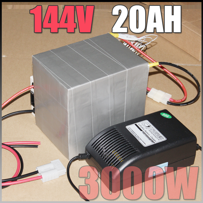144V 20Ah LiFePO4 Battery Pack 3000W Electric Bicycle Battery BMS Charger 144v lithium scooter electric font