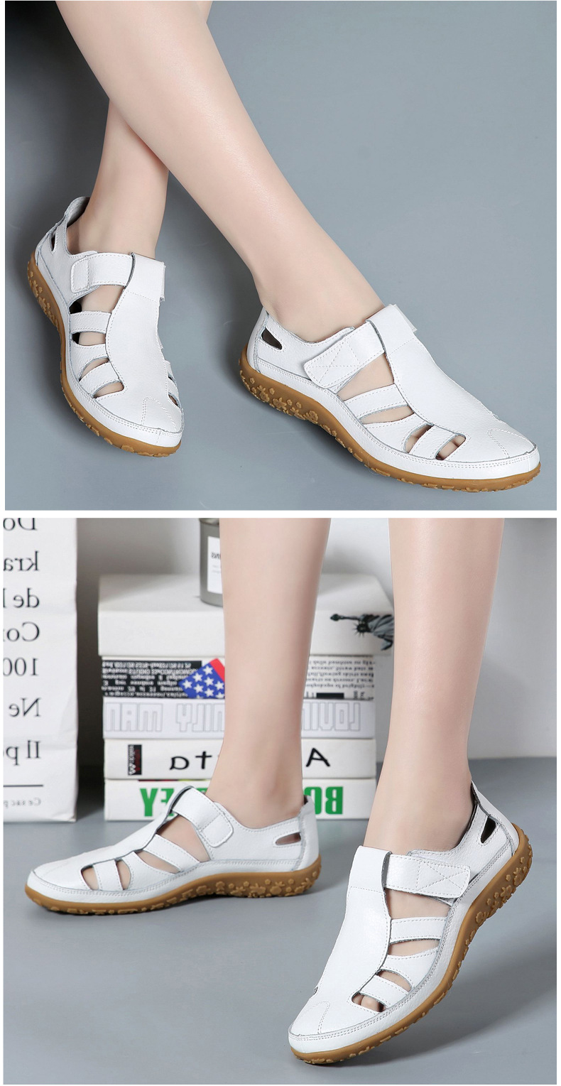 HTB1dndvMbvpK1RjSZFqq6AXUVXal Women Gladiator Sandals Split Leather Summer Shoes Woman Hollow out Flat Sandals Ladies Casual Soft bottom Female Beach Sandal