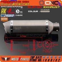 Modified Motorcycle E-Mark AK-P511 Exhaust Pipe
