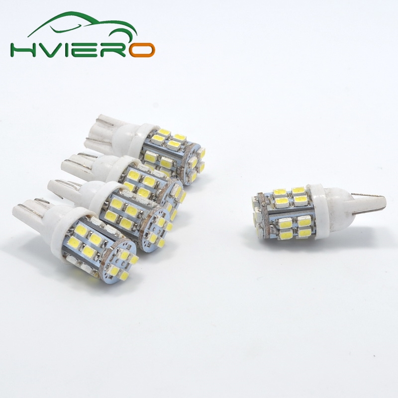 high quality 2X T10 20SMD 1206 white Car Wedge LED Light 3020 W5W 194 168 Auto License Plate Clearance Lamp Reading Bulb 12v 2x car led w5w t10 194 clearance light for lada granta vaz kalina priora niva samara 2 2110 largus 2109 2107 2106 4x4 2114 2112