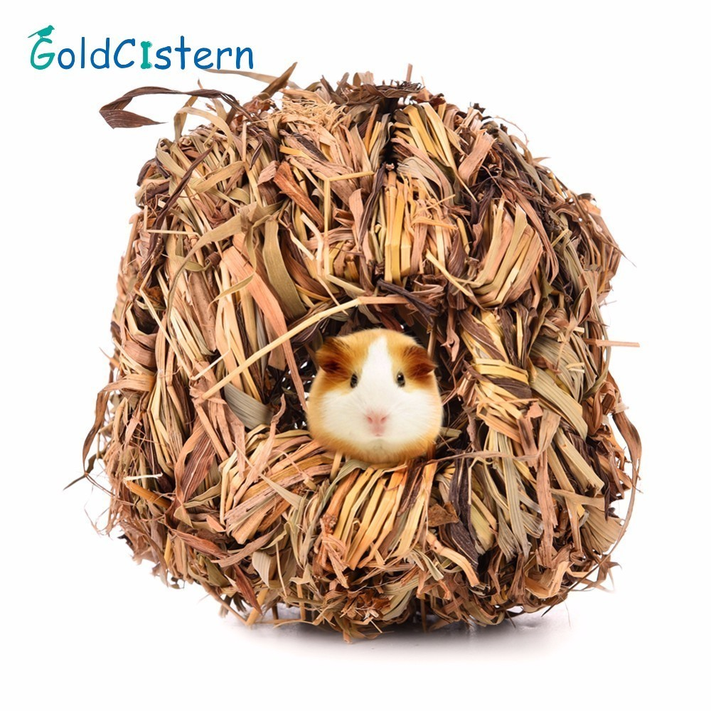 Small Pet Animal Grass Net Grass Hand-weaved Pet Toy For Chinchilla Hamster Guinea Pigs Funny Toys Small Animal Playground