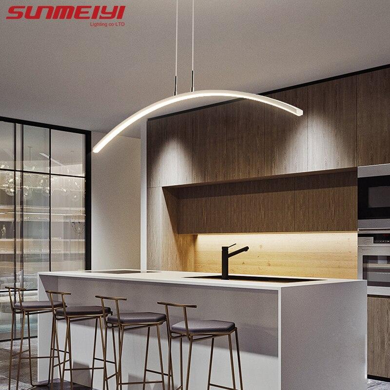 Éclairage nordique pendentif LED moderne lumières pour cuisine salle à manger lustre pendente suspension plafonnier déco maison halat avize