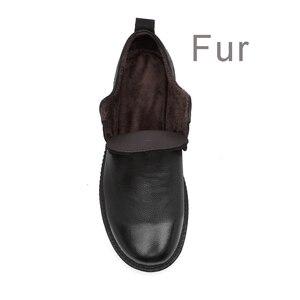 Image 5 - CLAX Mens עור נעלי עור אמיתי אביב סתיו מעצב גברים מקרית הליכה Footwar חורף פרווה Chaussure Homme בתוספת גודל