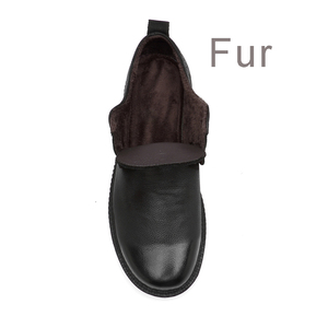 Image 5 - Clax mens leather shoes 정품 가죽 봄 가을 디자이너 남성 캐주얼 워킹 footwar 겨울 모피 chaussure homme plus size