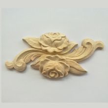 Wood Applique Wooden Wood Carving Decal Furniture Wall Corner Decor for Cabinets Windows Mirrors Craft dongyang wood carving applique motif wood shavings corner flower fashion solid wood furniture smd background wall ceiling home