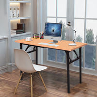 Giantex Portable Folding Computer Desk PC Laptop Table Modern Wood Writing Workstation Home Office Furniture HW56138